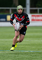 Oliver Leyland of London Broncos during the Betfred Challenge Cup match between London Broncos and York City Knights at The Rock, Rosslyn Park, London, England on 28 March 2021. Photo by Liam McAvoy.