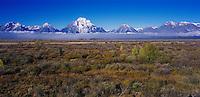 Teton Range at sunrise, Grand Teton NP,Wyoming, USA