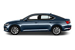 Car driver side profile view of a 2020 Skoda Superb Ambition 5 Door Hatchback