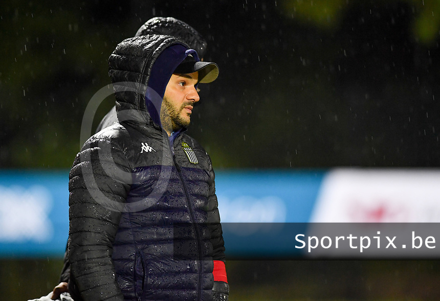 head coach Tiziano Rutilo of Sporting Charleroi pictured during a female soccer game between Sporting Charleroi and RSC Anderlecht on the third matchday of the 2020 - 2021 season of Belgian Scooore Womens Super League , friday 2 nd of October 2020  in Marcinelle , Belgium . PHOTO SPORTPIX.BE | SPP | DAVID CATRY