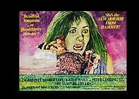 BNPS.co.uk (01202) 558833. <br /> Pic: SpecialAuctionServices/BNPS<br /> <br /> The Vampire Lovers poster is also up auction<br /> <br /> A collection of rare movie posters that have been sat gathering dust in a garage have sold at auction for £6,500.<br /> <br /> The 32 sheets date from the 1950s to the '70s and promote classic movies such as Frankenstein and Christopher Lee's Dracula.<br /> <br /> The vendor had owned the posters for several years after she had inherited them from a relative.