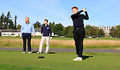 """Colin Montgomerie meets Gleneagles """"DreamTeam"""" of Junior Golfers who have been selected to take part in the The Gleneagles Foundation inaugural 12 month scholarship programme  : Picture Stuart Adams, www.golftourimages.com: 19/09/2015"""