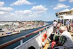 Auf der Faehre Color Fantasy der Colorline im Hafen Kiel, 08/2014<br /> <br /> Engl.: Europe, Germany, Kiel, ferry Color Fantasy to Oslo, tourism, August 2014