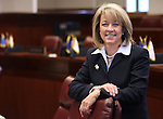 Nevada Sen. Barbara Cegavske, R-Las Vegas, poses at her desk on the Senate floor at the Legislature in Carson City, Nev. on Tuesday, Feb. 22, 2011..Photo by Cathleen Allison