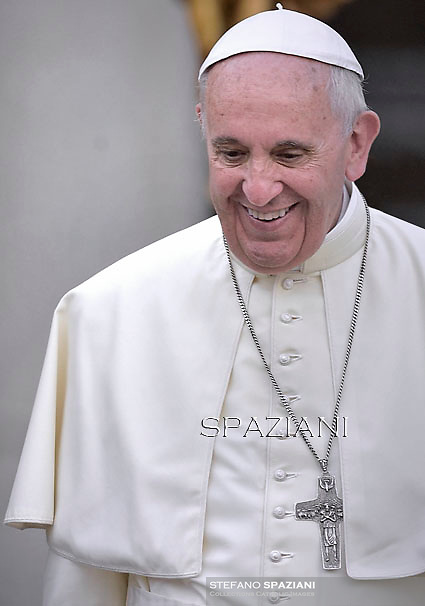 Pope Francis  during his weekly general audience in St. Peter square at the Vatican, Wednesday.26 August 2015