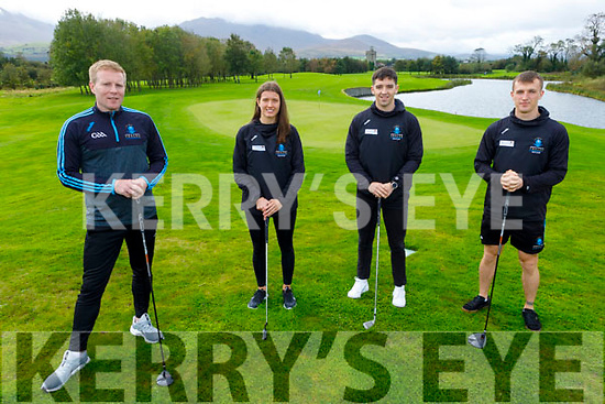 Launching the IT Tralee Golf Classic Fundraiser at the Beaufort Golf Club on Monday and the event will go ahead on October 24th at the Beaufort Golf Club. L to r: Eamon Fitzgerald, Ciara Murphy, Tony Brosnan and Thomas Kearns.