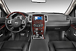 Straight dashboard view of a 2009 Jeep Grand Cherokee 5 Door.