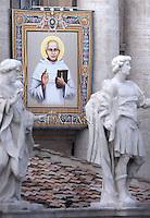 Saint Kuriakose Elias Chavara .Pope Francis canonization mass for Euphrasia Eluvathingal, friar Francescano Amato Ronconi, bishop Antonio Farina, priest Kuriakose Elias Chavara, friar Francescano Nicola Saggio da Longobardi and friar Francescano Amato Ronconi in St Peter's square at the Vatican on November 23, 2014.
