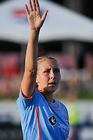 Allie Long (10) of Sky Blue FC. Sky Blue FC defeated the Atlanta Beat 3-0 during a Women's Professional Soccer (WPS) match at Yurcak Field in Piscataway, NJ, on May 21, 2011.