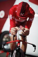 Marco Haller (AUT/Katusha) warming up<br /> <br /> stage 13 (ITT): Bourg-Saint-Andeol - Le Caverne de Pont (37.5km)<br /> 103rd Tour de France 2016