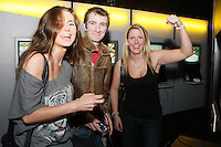 NO REPRO FEE. 20/9/2010. Game On Exhibition.  Emma Quinlan, Michael Quinlan and Carrie Whelan are pictured at the opening of the Game On Exhibition at Dublin's Ambassador Theatre. Game On is an action packed gaming exhibition with fun for all the family. Enjoy a totally interactive experience with rare memorabilia and play your way through over 120 playable games from the arcade classics to the latest releases. Now running at the Ambassador Theatre for a limited run. Tickets from 10 euro including booking fee on sale now See Ticketmaster.ie and Gameon-Dublin.ie for family and group discounts plus more details. Picture James Horan/Collins Photos