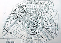 Paris: Plan of Paris, Hausemann's Streets. Sybyl Moholy-Nagy, MATRIX OF MAN. Reference only.