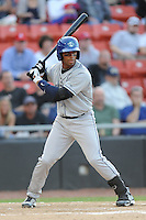 Asheville Tourists Russell Wilson #3 waits on a pitch during a game vs. the Hickory Crawdads at L.P. Franz Stadium in Hickory,  North Carolina;  April 7, 2011.  Hickory defeated Asheville 4-2.  Photo By Tony Farlow/Four Seam Images