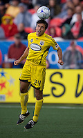 02 May 2009: Columbus Crew defender Jed Zayner #24 in action at BMO Field in a game between the Columbus Crew and Toronto FC. .The game ended in a 1-1 draw...
