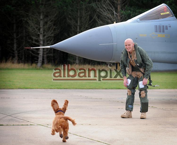 The return of 9 Squadron GR4 Tornado's to RAF Marham in Norfolk after the end of operations over Libya