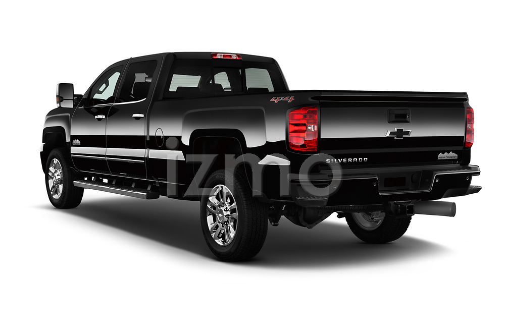 Car pictures of rear three quarter view of 2017 Chevrolet Silverado-2500Hd High-Country-Crew-LWB 4 Door Pickup Angular Rear