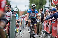 World Champion Peter Sagan (SVK/Bora Hansgrohe) in the points jersey on his way to the start<br /> <br /> <br /> Binckbank Tour 2017 (UCI World Tour)<br /> Stage 7: Essen (BE) > Geraardsbergen (BE) 191km