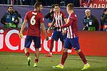 Atletico de Madrid's Koke Resurrecccion (L), Jose Maria Gimenez (C) and Antoine Griezmann during UEFA Champions League match. March 15,2016. (ALTERPHOTOS/Borja B.Hojas)
