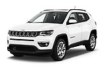 2018 Jeep Compass Latitude 5 Door SUV angular front stock photos of front three quarter view