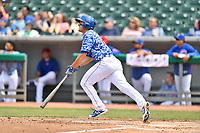 Tennessee Smokies third baseman Jason Vosler (22) swings at a pitch during a game against the Mississippi Braves at Smokies Stadium on May 20, 2018 in Kodak, Tennessee. The Braves defeated the Smokies 7-4. (Tony Farlow/Four Seam Images)