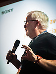 Dave Rhodes from Sony discusses mirrorless camera trends at the Friday symposium at STW XXXI, Winnemucca, Nevada, April 12, 2019.<br /> .<br /> .<br /> .<br /> .<br /> <br /> @Sony, @shootingthewest, @winnemuccanevada, #ShootingTheWest, @winnemuccaconventioncenter, #WinnemuccaNevada, #STWXXXI, #NevadaPhotographyExperience, #WCVA