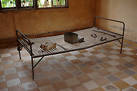 """Phnom Penh,Cambodia - 2007 File Photo -<br /> <br /> Tuol Sleng, former Khmer Rouge S-21 prison<br /> <br /> The Tuol Sleng Genocide Museum is a museum in Phnom Penh, capital of Cambodia. The site is a former high school which was used as the notorious Security Prison 21 (S-21) by the Khmer Rouge regime from its rise to power in 1975 to its fall in 1979. Tuol Sleng in Khmer means """"Hill of the Poisonous Trees"""" or """"Strychnine Hill"""".<br /> <br /> photo : James Wong-  Images Distribution"""