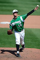 Dayton Dragons pitcher Joel Bender #19 during a game against the Bowling Green Hot Rods on April 21, 2013 at Fifth Third Field in Dayton, Ohio.  Bowling Green defeated Dayton 7-5.  (Mike Janes/Four Seam Images)
