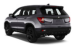 Car pictures of rear three quarter view of 2019 Honda Passport Sport 5 Door SUV Angular Rear