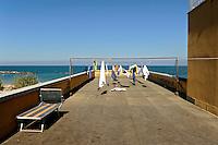 Bellaria Igea Marina; bucato sulla terrazza della Colonia Ragazzi e Cinema. Ex colonia Landini
