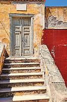 Ruined house in Hydra island, Greece