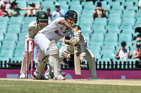 11th January 2021; Sydney Cricket Ground, Sydney, New South Wales, Australia; International Test Cricket, Third Test Day Five, Australia versus India; Cheteshwar Pujara of India batting during play