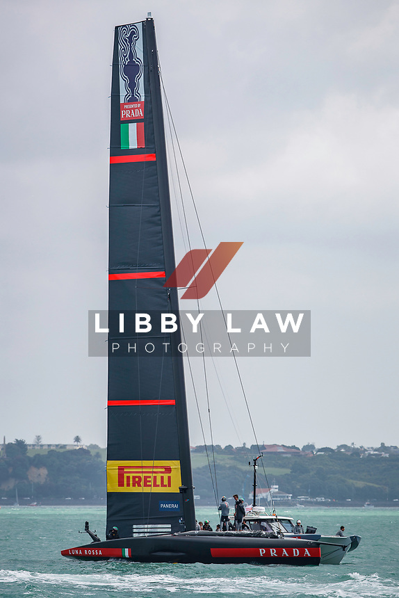 Luna Rossa Prada Pirelli after race 5 of the Round Robin competition of the PRADA America's Cup World Series in Auckland, New Zealand on Friday 18th December 2020. Copyright Photo: Libby Law Photography