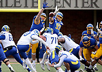 BROOKINGS, SD - MAY 8: Ryan Van Marel #98 and Reece Winkelman #97 from the South Dakota State Jackrabbits block a field goal attempt by Ryan Coe #40 of the Delaware Fightin Blue Hens on May 8, 2021 in Brookings, South Dakota. (Photo by Dave Eggen/Inertia)