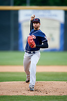 New Hampshire Fisher Cats starting pitcher T.J. Zeuch (28) delivers a pitch during the second game of a doubleheader against the Harrisburg Senators on May 13, 2018 at FNB Field in Harrisburg, Pennsylvania.  Harrisburg defeated New Hampshire 2-1.  (Mike Janes/Four Seam Images)
