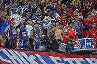 MEDELLIN - COLOMBIA, 12-02-2019: Jugadores de Medellín celebran la victoria después del partido entre Independiente Medellin de Colombia y Palestino de Chile por la segunda fase, llave 4, de la Copa CONMEBOL Libertadores 2019 jugado en el estadio Atanasio Girardot de la ciudad de Medellín. / Players of Medellin clebrate the victory after the match between Independiente Medellin of Colombia and Palestino of Chile for the second phase, Key 4, of the Copa CONMEBOL Libertadores 2019 played at Atanasio Girardot stadium in Medellin city. Photo: VizzorImage / Leon Monsalve / Cont