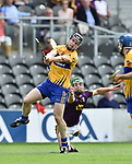 Tony Kelly of Clare in action against X during their All-Ireland quarter final at Pairc Ui Chaoimh. Photograph by John Kelly.