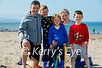 The Kelly family enjoying a stroll on Derrymore beach on Saturday, l to r: Jack, Padraig, Aidan, Luke and Caroline Kelly.