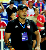 CALI - COLOMBIA - 19 - 05 - 2017: Enrique Guevara, técnico de America, durante partido de ida entre America de Cali y el Independiente Santa Fe, por los cuartos de final de la Liga Femenina Aguila 2017, en el estadio Pascual Guerrero de la ciudad de Cali. / Enrique Guevara, coach of America, during a match for the first leg between America de Cali and Independiente Santa Fe, of the quarterfinals for the Liga Femenina Aguila 2017 at the Pascual Guerrero stadium in the city of Cali, Photo: VizzorImage / Nelson Rios / Cont.