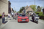 The start of La Fleche Wallonne Femmes 2018 running 118.5km from Huy to Huy, Belgium. 18/04/2018.<br /> Picture: ASO/Thomas Maheux | Cyclefile.<br /> <br /> All photos usage must carry mandatory copyright credit (© Cyclefile | ASO/Thomas Maheux)