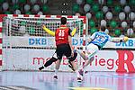 Kresimir Kozina (FAG) beim Wurf beim Spiel in der Handball Bundesliga, Frisch Auf Goeppingen - Fuechse Berlin.<br /> <br /> Foto © PIX-Sportfotos *** Foto ist honorarpflichtig! *** Auf Anfrage in hoeherer Qualitaet/Aufloesung. Belegexemplar erbeten. Veroeffentlichung ausschliesslich fuer journalistisch-publizistische Zwecke. For editorial use only.