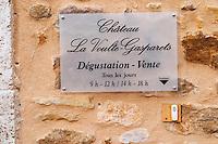 Chateau la Voulte Gasparets. In Gasparets village near Boutenac. Les Corbieres. Languedoc. France. Europe.