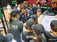 15-sept.-2013,Netherlands, Groningen,  Martini Plaza, Tennis, DavisCup Netherlands-Austria, Jean-Julien Rojer signing autographs  <br /> Photo: Henk Koster