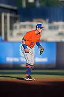 St. Lucie Mets shortstop Cody Bohanek (10) during a Florida State League game against the Tampa Tarpons on April 10, 2019 at George M. Steinbrenner Field in Tampa, Florida.  St. Lucie defeated Tampa 4-3.  (Mike Janes/Four Seam Images)
