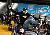 BOGOTA - COLOMBIA - 13 - 08 - 2017: Juan Pablo Velez, Skater de Colombia, durante competencia en el Primer Campeonato Panamericano de Skateboarding, que se realiza en el Palacio de los Deportes en la Ciudad de Bogota. / Juan Pablo Velez, Skater from Colombia, during a competitions in the First Pan American Championship of Skateboarding, that takes place in the Palace of Sports in the City of Bogota. Photo: VizzorImage / Luis Ramirez / Staff.