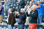 1-0, Kilmarnock fans celebrating the first goal of the game scored by Liam Polworth. Kilmarnock 2 Ayr United 0, Scottish Championship, August 2nd 2021. Following Kilmarnock's relegation in 2020-21, the first game of the new season is the Ayreshire Derby, the first league match between the teams in 28 years. Due to relaxation of Covid restrictions the match was played in front of a crowd of 3200 Kilmarnock fans. The game was shown live on BBC Scotland.