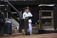 ***Temporary Unedited Reference File***Jackson Generals manager Daren Brown (40) during a game against the Jacksonville Suns on May 4, 2016 at The Ballpark at Jackson in Jackson, Tennessee.  Jackson defeated Jacksonville 11-6.  (Mike Janes/Four Seam Images)