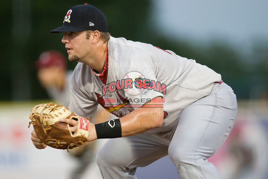 Springfield Cardinals first baseman Matt Adams #29 plays defense at the Texas League All Star Game played on June 29, 2011 at Nelson Wolff Stadium in San Antonio, Texas. The South All Star team defeated the North All Star team 3-2. (Andrew Woolley / Four Seam Images)