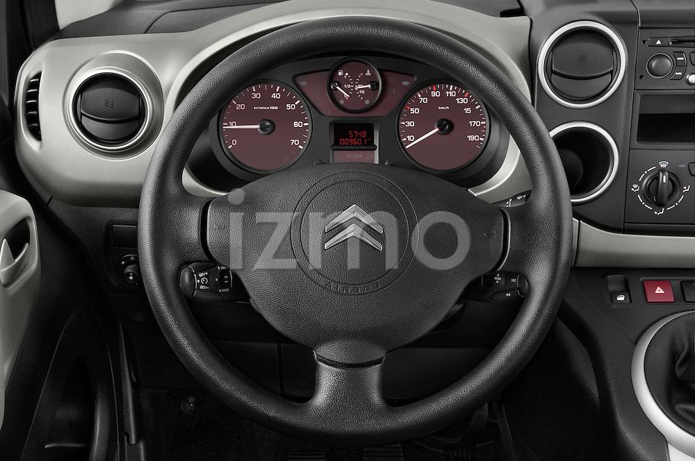 Steering wheel view of a 2008 - 2014 Citroen BERLINGO Multispace 5-Door Mini Mpv 2WD