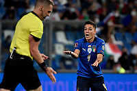 Giacomo Raspadori of Italy reacts during the Qatar 2022 world cup qualifying football match between Italy and Lithuania at Citta del tricolore stadium in Reggio Emilia (Italy), September 8th, 2021. Photo Andrea Staccioli / Insidefoto