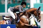 Spain's jockey Leticia Riva Gil with the horse Loveday des Fontaines during 102 International Show Jumping Horse Riding, King's College Trophy. May, 20, 2012. (ALTERPHOTOS/Acero)